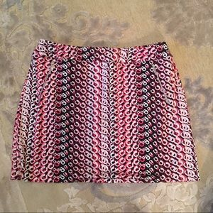 Tail Golf Pink and Black Printed Skirt Large